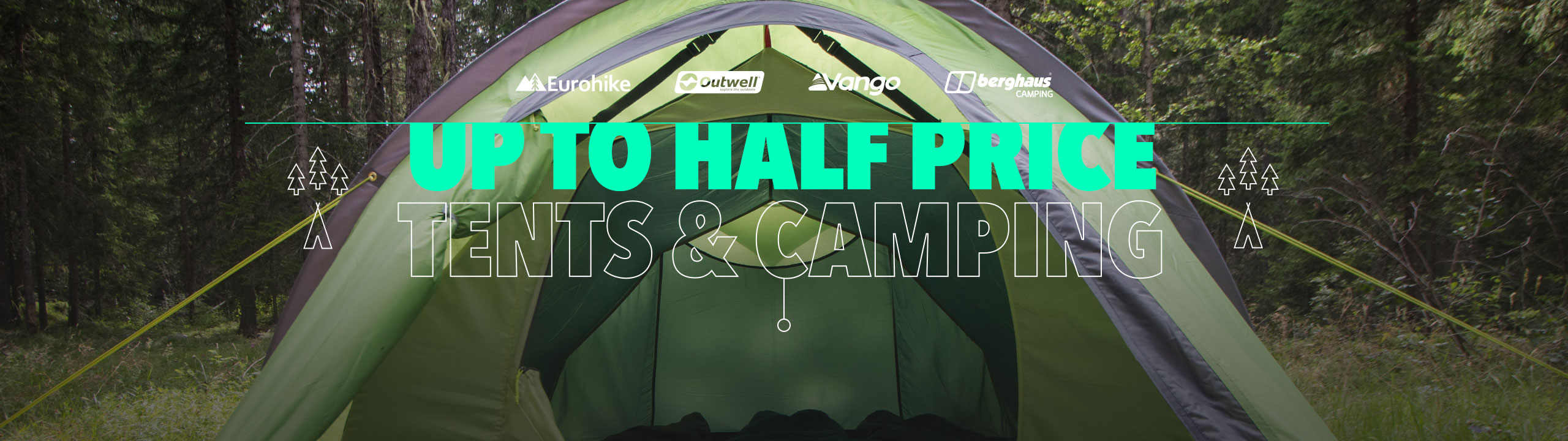 Up To Half Price Tents & Camping