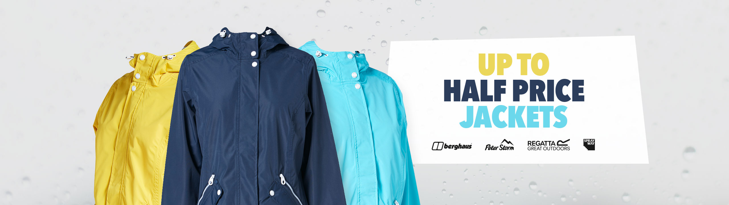 Sun & Showers - Up To Half Price Jackets