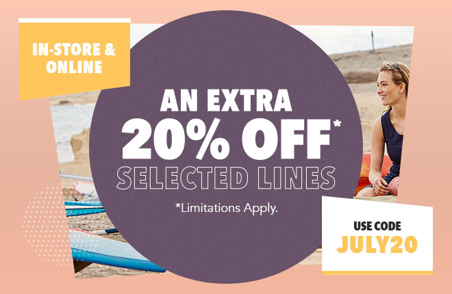Extra 20 Percent Off Selected Brands