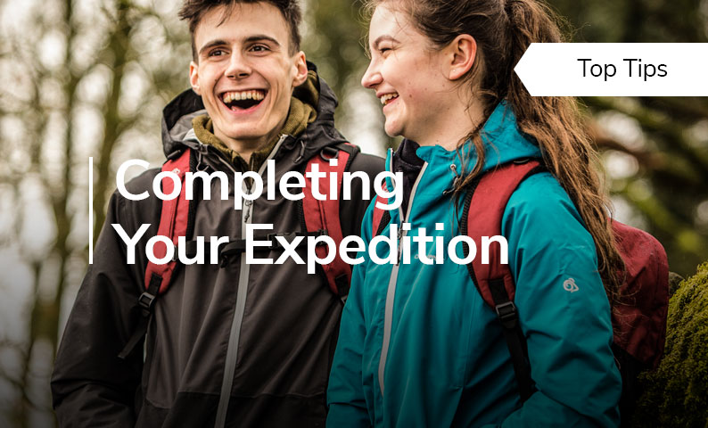 Top Tips: Completing Your Expedition