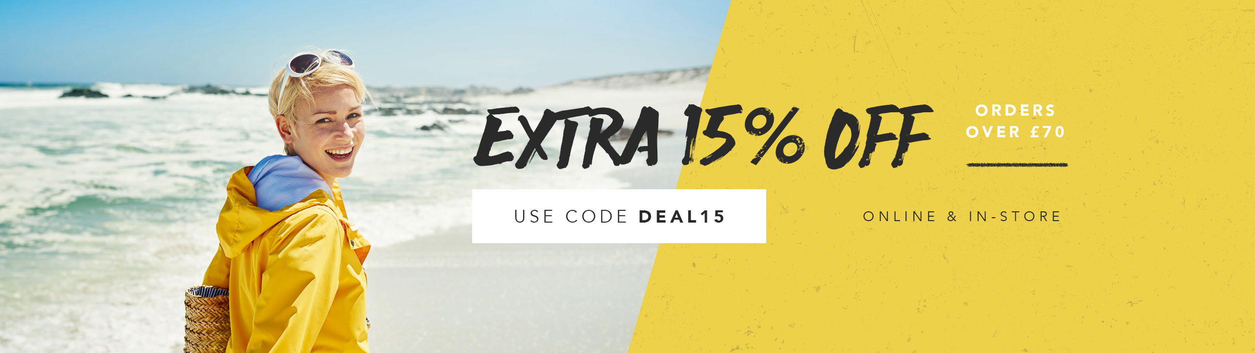 An Extra 15 Percent Off Orders Over £70