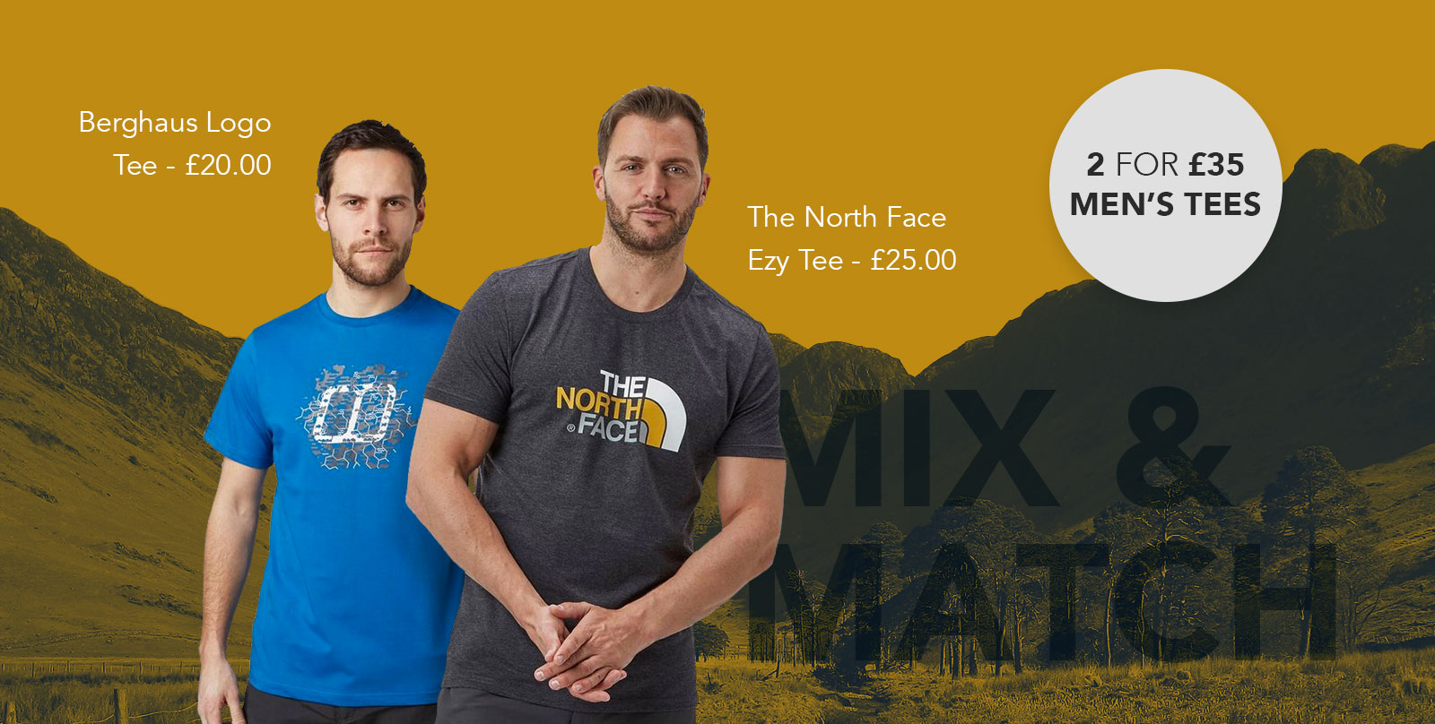 Men's 2 for £35 T-shirts