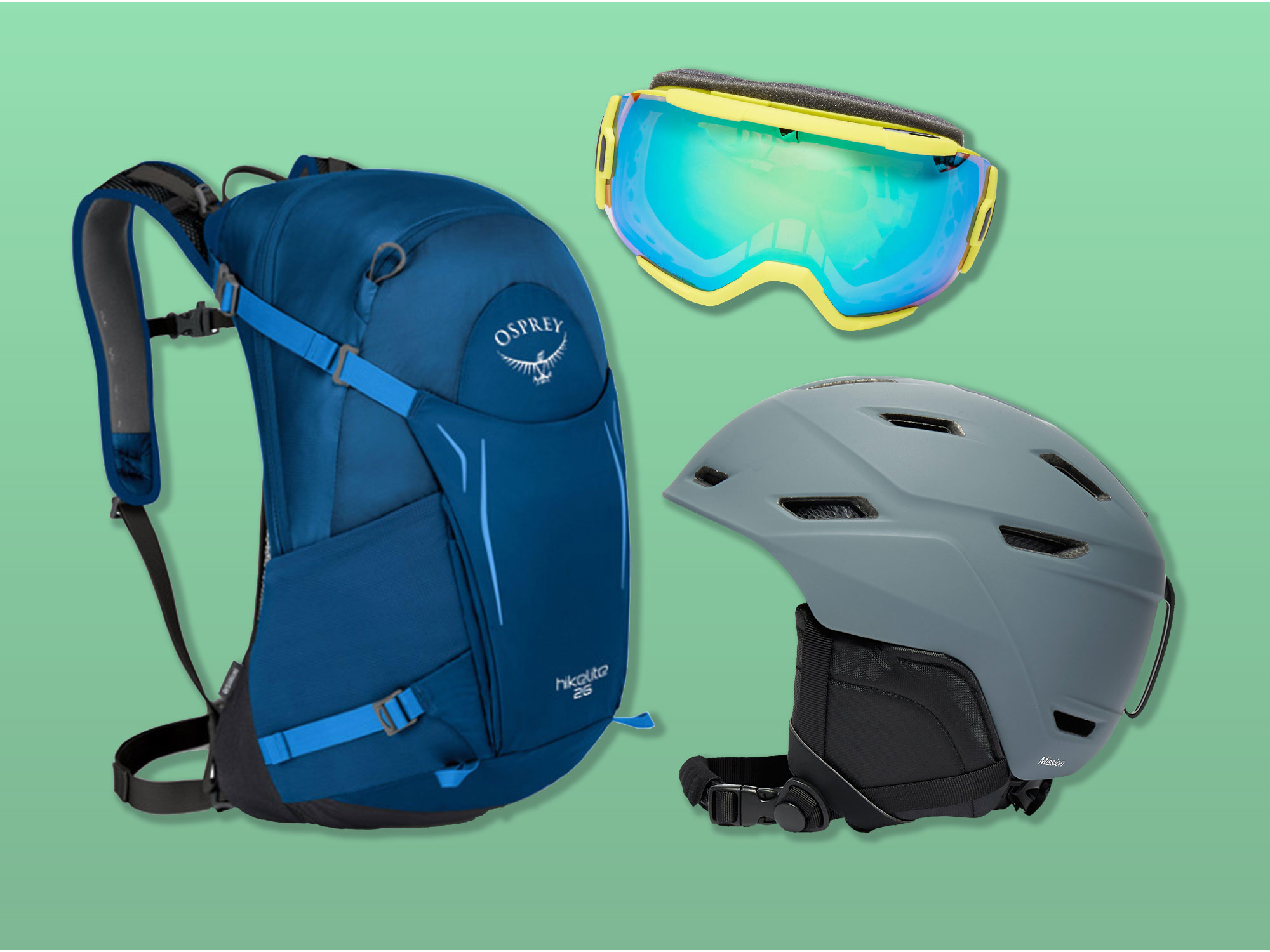 Helmets Goggles and Daysack