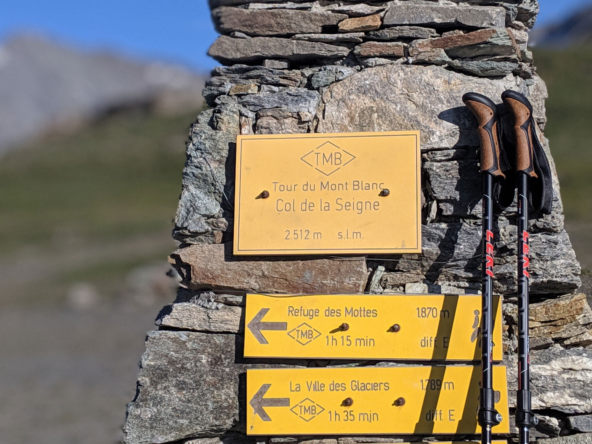 Trekking Poles at the Summit