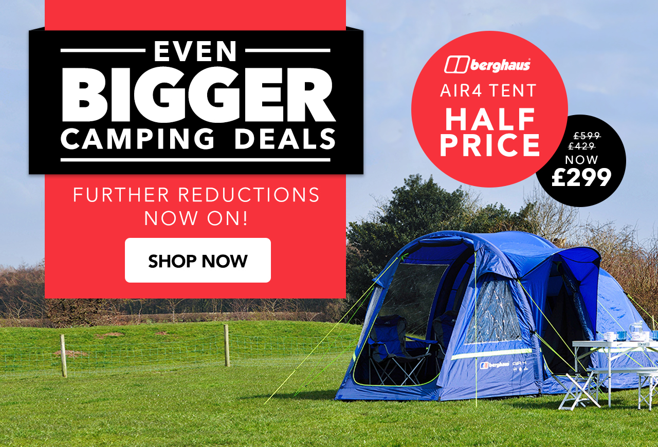 20% Off Tents & Camping