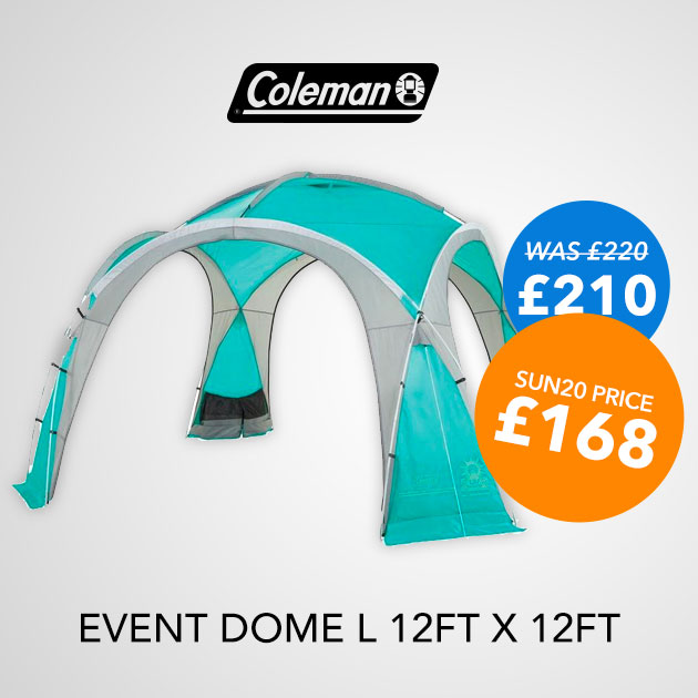 COLEMAN EVENT DOME 12FT X 12FT £210 - SUN20 PRICE £168