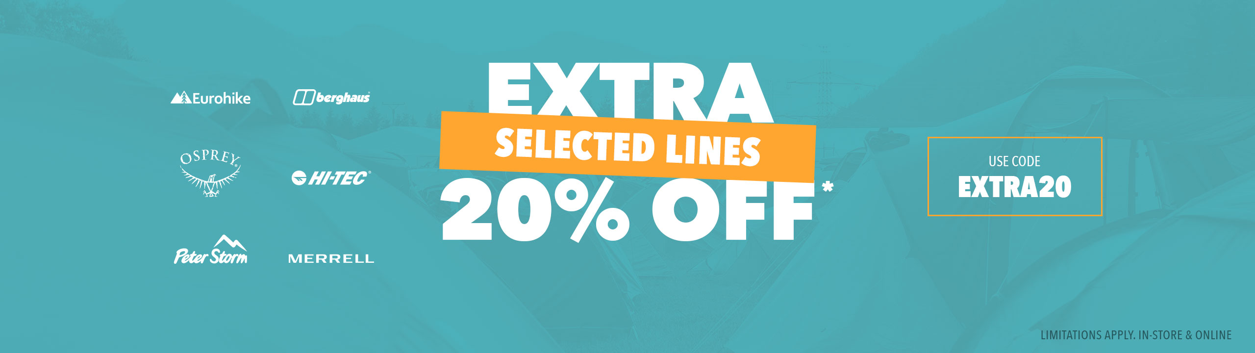 An Extra 20 Percent Off Selected Lines